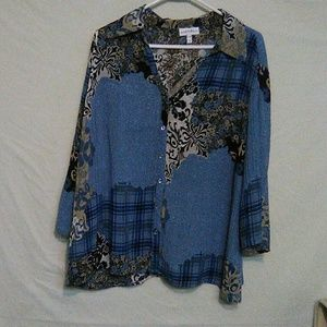 Fashion bug multicolor blouse. 14/16w. B6